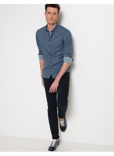 Pierre Cardin Desenli Slim Fit Gömlek Yeşil